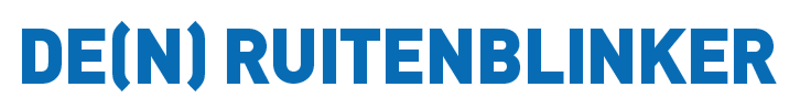 Logo De(n) Ruitenblinker | Ramenwasser en interieurverzorgster, Vlaams Brabant